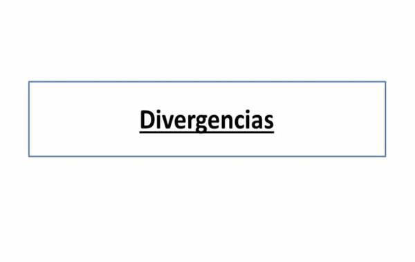 Divergencias en la bolsa