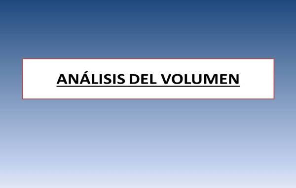 Analisis del Volumen de las acciones en bolsa